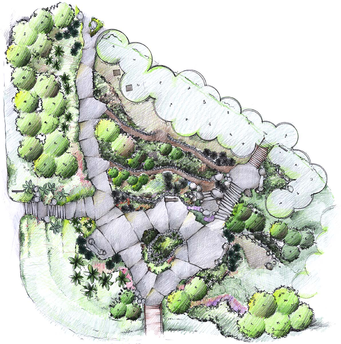 Landscape architecture plan outdoor decorating ideas for Landscape plan